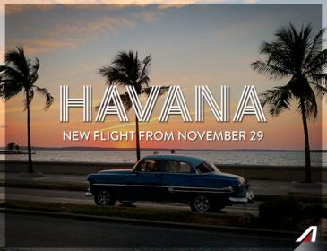 Începând cu luna noiembrie, Roma va fi conectată direct cu Havana de Alitalia