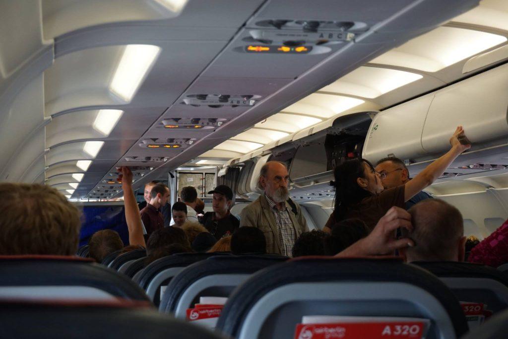 boarding airberlin a320