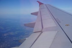 wing view airberlin a320