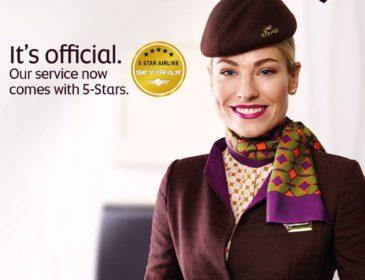Etihad Airways devine a noua companie aeriană certificată cu 5* Skytrax (VIDEO)