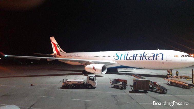 Un Airbus A330 al SriLankan Airlines a aterizat de urgență la București, zbura pe ruta Colombo – Londra