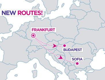 Wizzair va zbura de la Frankfurt (FRA) către Sofia și Budapesta