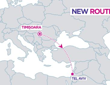 RUTĂ NOUĂ: Timișoara – Tel Aviv cu Wizzair din 30 Octombrie