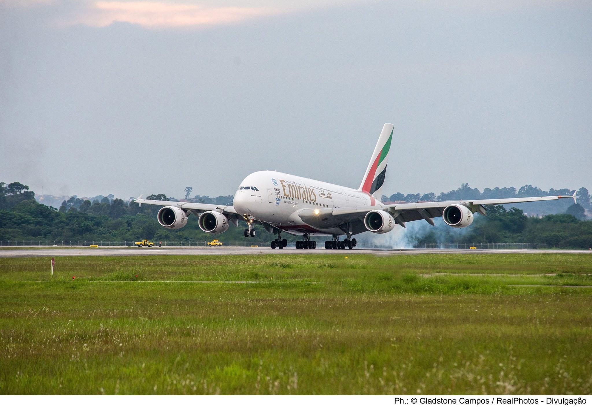 Emirates – 8 ani de operațiuni la Sao Paulo, zbor special operat cu A380
