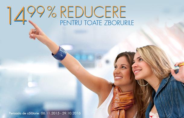 Blue Air – 14.99% reducere la toate zborurile