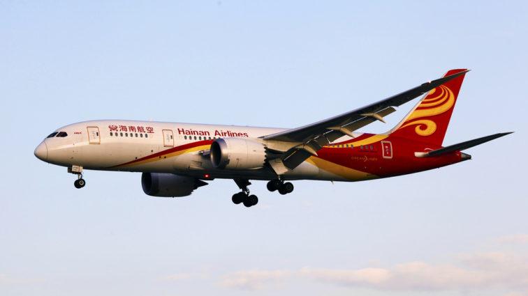 Hainan Airlines va zbura din Beijing către Belgrad