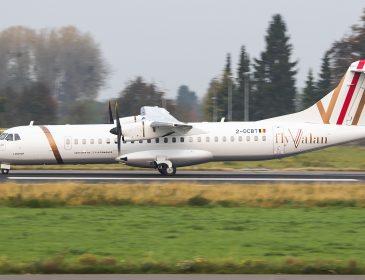 Primul avion al operatorului român flyValan a fost vopsit și înmatriculat (FOTO)