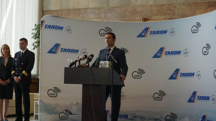 Actualizat: TAROM anunță disponibilitatea serviciului AirFi la bordul aeronavelor (VIDEO)