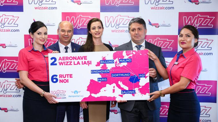 Wizzair alocă a doua aeronavă bazei de la Iași și deschide 6 rute noi