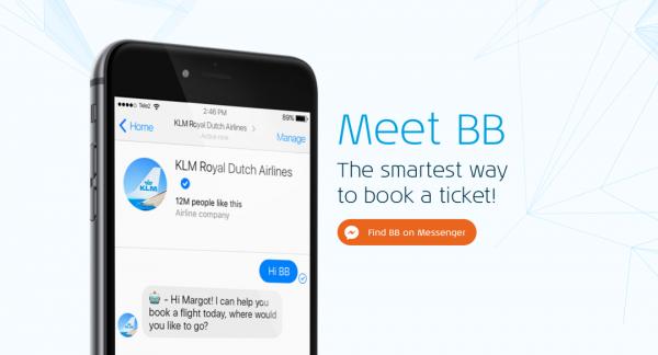 KLM: Bilete de avion rezervate cu ajutorul inteligentei artificiale, pe Messenger