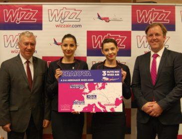 Wizzair lansează 3 rute noi de la Craiova către Liverpool, Cologne și Madrid