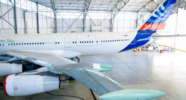"""Aeronava de test Airbus A340 """"BLADE"""" cu aripi cu flux laminar a efectuat primul său zbor"""