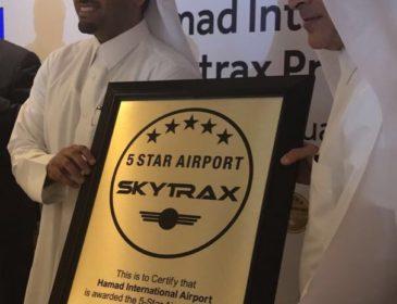 Aeroportul Hamad din Doha (DOH) a devenit al șaselea aeroport din lume premiat cu 5* Skytrax