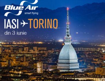 Blue Air anunta noua ruta Iasi – Torino