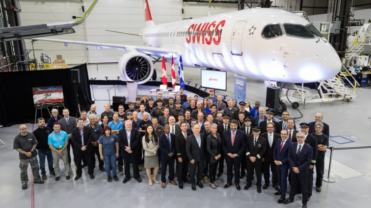 Swiss a recepționat primul său CS300 produs de Bombardier (FOTO)