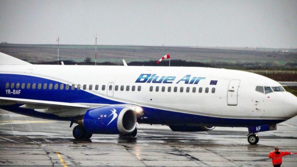 Boeing 737 Blue Air la Timișoara // Foto: Valentin Moise
