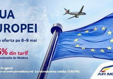București – Chișinău de la 100€ dus-întors cu Air Moldova; 25% reducere pe toate destinațiile operatorului
