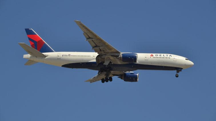 Un Boeing 777-200ER al Delta Air Lines a zburat ieri de la New York la Constanța (FOTO)