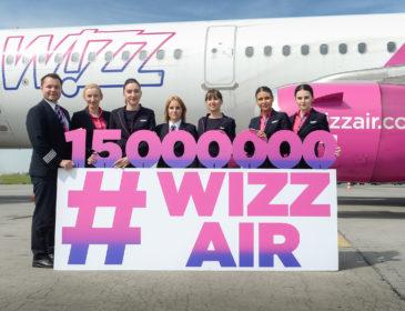 Wizz Air sărbătorește 15 milioane de pasageri în București