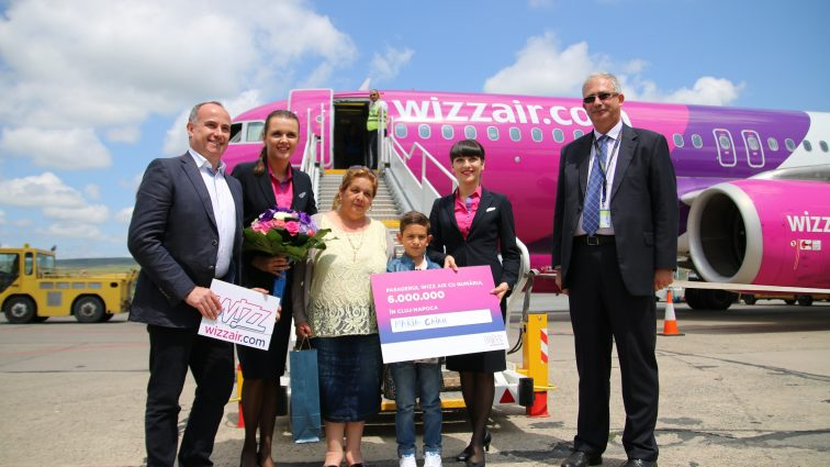 Wizz Air a transportat 6.000.000 pasageri din/ către Cluj-Napoca
