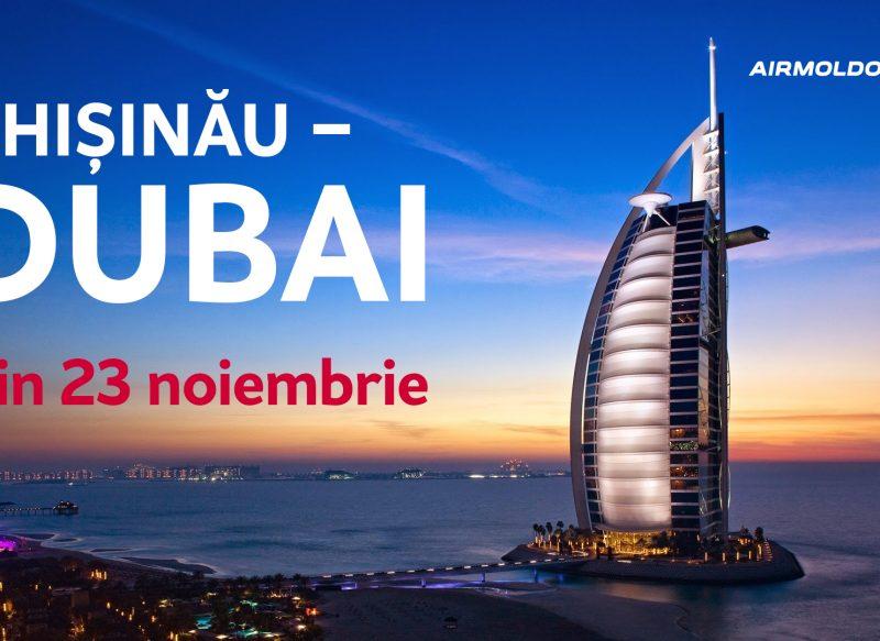 Rută nouă: Chișinău – Dubai din Noiembrie 2017 cu Air Moldova