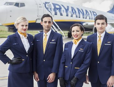 Ryanair recrutează însoțitori de cabină în București și Cluj