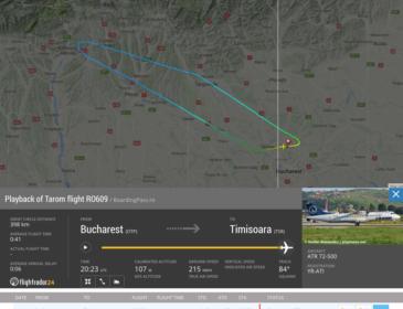Zborul TAROM RO609 București – Timișoara s-a întors la Otopeni din cauza unei urgențe medicale (UPDATE)