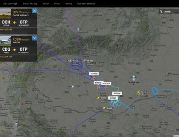 Aterizările și decolările de la Otopeni date peste cap de furtună; Qatar Airways redirecționat către Constanța