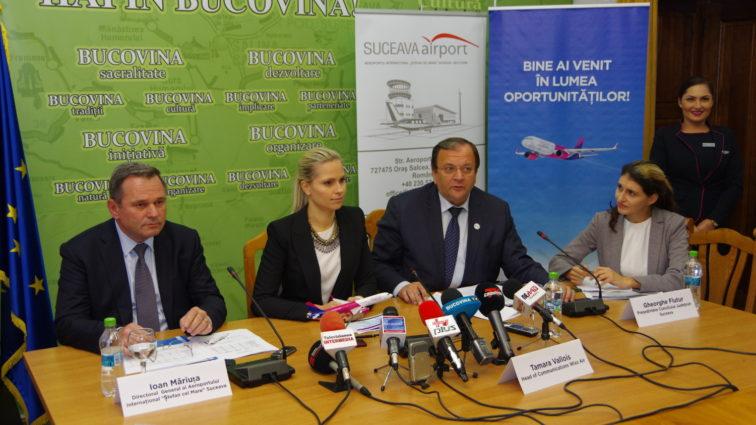 Wizzair se extinde și la Suceava, va zbura către Roma, Bologna și Treviso