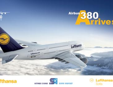 Duminică, 16 Octombrie 2016, transmitem LIVE de la Sofia aterizarea uriașului Airbus A380