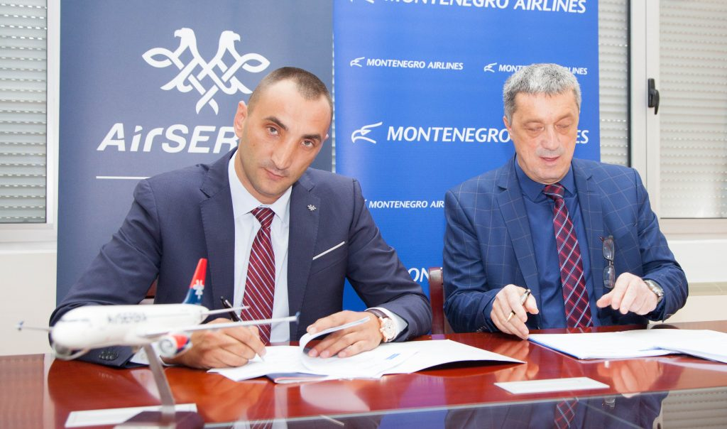 air serbia montenegro airlines codeshare