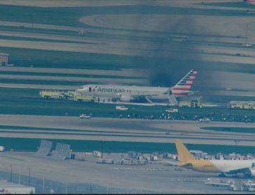 Un motor al unui Boeing 767 al American Airlines a luat foc pe una din pistele aeroportului din Chicago