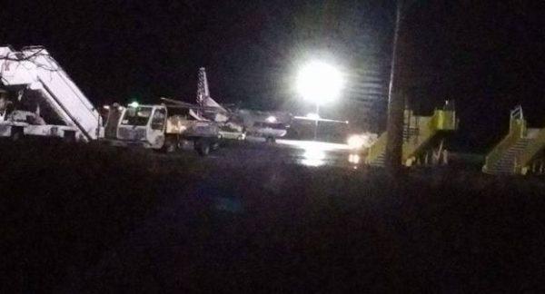 INCIDENT: Un Antonov AN26 a ieșit în decor în timpul procedurilor de decolare de pe aeroportul din Timișoara (FOTO)