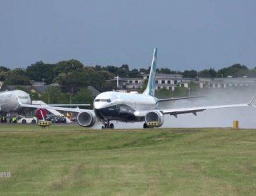 Boeing 737 MAX – zbor demonstrativ, decolare aproape verticală