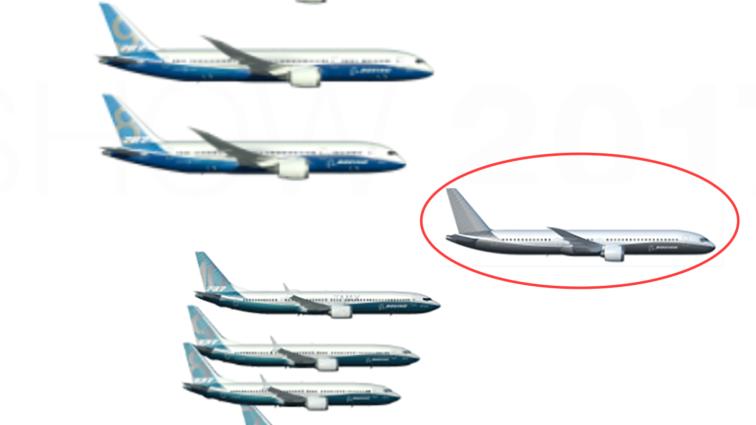 """Prima randare a următorului model """"797"""" produs de Boeing a fost prezentată în cadrul Paris Air Show 2017"""