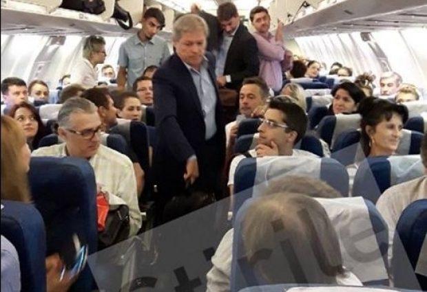Premierul Dacian Cioloș a călătorit la Economy către Munchen, refuzând invitația însoțitoarei de zbor de a sta la clasa Business