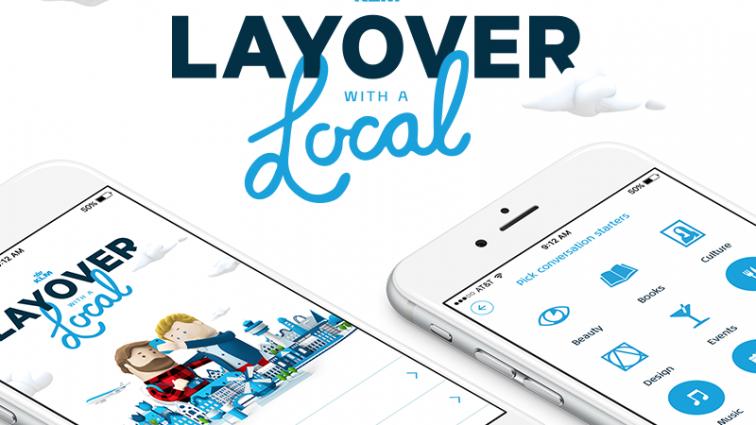 """Despre aplicația """"Layover with a Local"""" by KLM"""