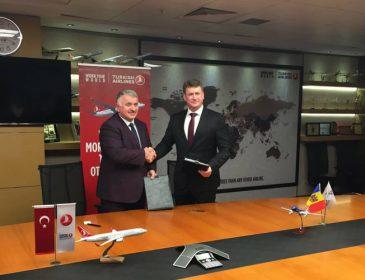 Air Moldova semnează un acord de colaborare codeshare cu Turkish Airlines