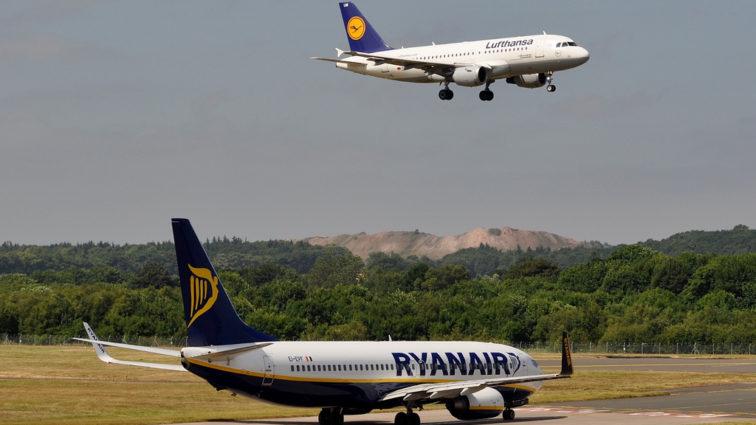 Ryanair devine cea mai mare companie aeriană din Europa, grupul Lufthansa trece pe locul doi