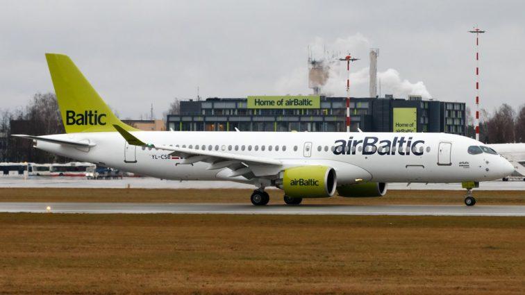 airBaltic a recepționat al doilea Bombardier CS300